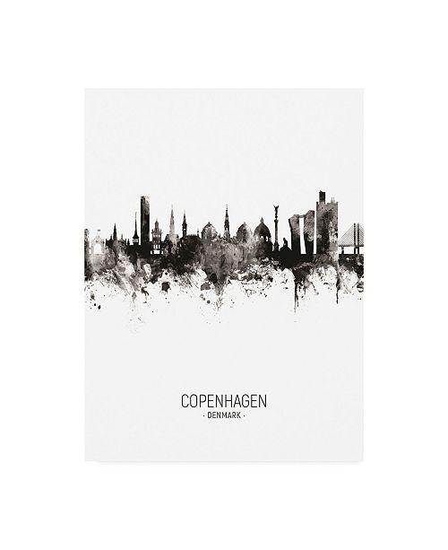 "Trademark Global Michael Tompsett Copenhagen Denmark Skyline Portrait II Canvas Art - 19.5"" x 26"""