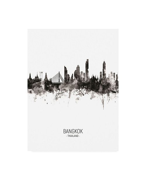 "Trademark Global Michael Tompsett Bangkok Thailand Skyline Portrait II Canvas Art - 15.5"" x 21"""