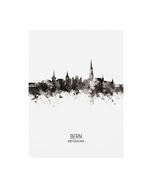 "Trademark Global Michael Tompsett Bern Switzerland Skyline Portrait II Canvas Art - 27"" x 33.5"""