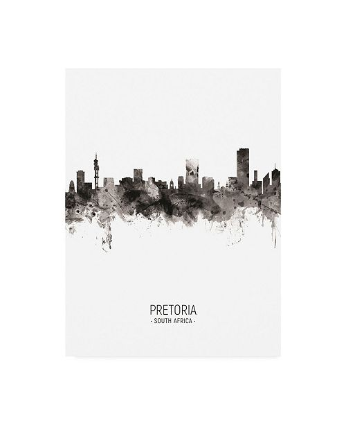 "Trademark Global Michael Tompsett Pretoria South Africa Skyline Portrait II Canvas Art - 27"" x 33.5"""
