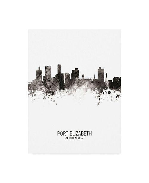 "Trademark Global Michael Tompsett Port Elizabeth South Africa Skyline Portrait II Canvas Art - 27"" x 33.5"""