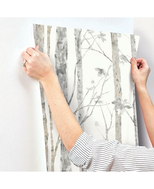 York Wallcoverings Birch Trees Peel And Stick Wallpaper Reviews All Wall Decor Home Decor Macy S