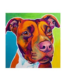 "DawgArt Pit Bull Red Canvas Art - 15.5"" x 21"""