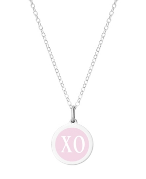 Mini Xo Pendant Necklace in Sterling Silver and Enamel