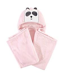 Hooded Plush Blanket, Miss Panda