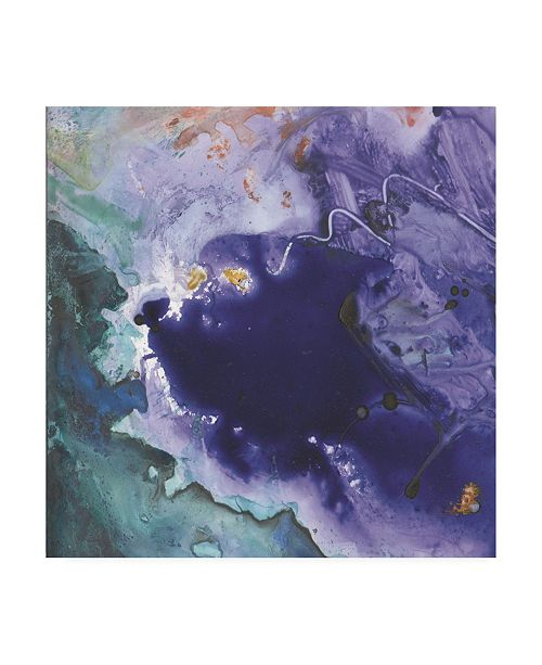 "Trademark Global Sheila Golden Purple Wind Abstract III Canvas Art - 15.5"" x 21"""