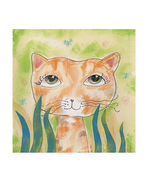 """Trademark Global Whiskers Studio Wild Thing Watercolor Canvas Art - 15.5"""" x 21"""""""