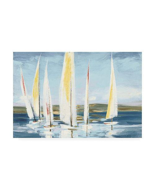 "Trademark Global Julia Purinton Horizon with Red Canvas Art - 19.5"" x 26"""
