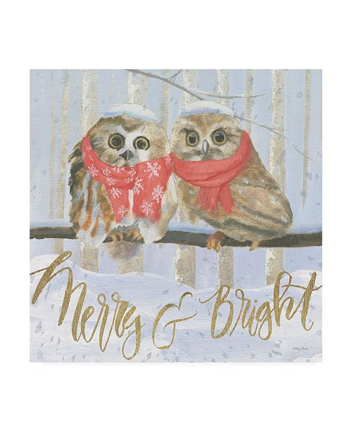 "Trademark Global Emily Adams Christmas Critters Bright V Canvas Art - 15.5"" x 21"""
