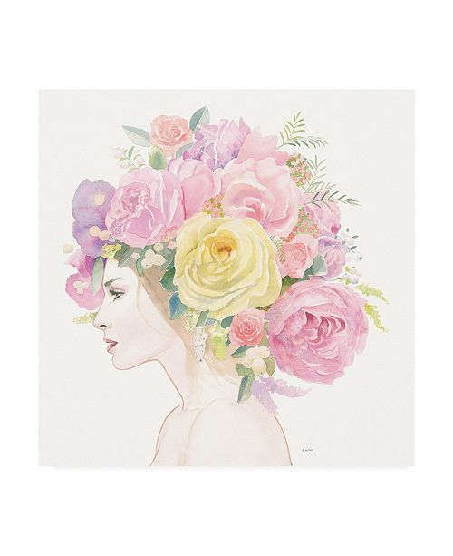 "Trademark Global James Wiens Flowers in her Hair Canvas Art - 15.5"" x 21"""