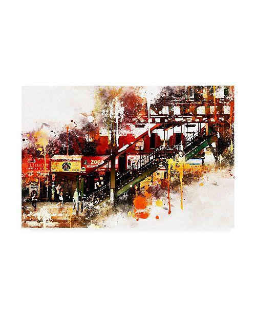 "Trademark Global Philippe Hugonnard NYC Watercolor Collection - Subway Brooklyn Canvas Art - 19.5"" x 26"""
