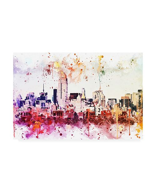"""Trademark Global Philippe Hugonnard NYC Watercolor Collection - Manhattan View II Canvas Art - 19.5"""" x 26"""""""