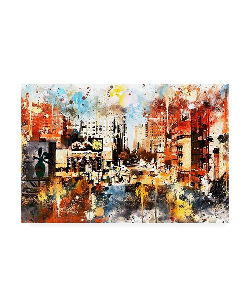 "Trademark Global Philippe Hugonnard NYC Watercolor Collection - Vision Canvas Art - 36.5"" x 48"""
