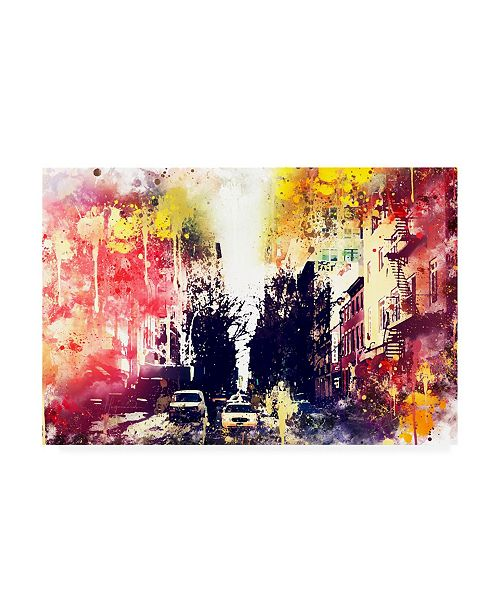 """Trademark Global Philippe Hugonnard NYC Watercolor Collection - Yellow Touch Canvas Art - 36.5"""" x 48"""""""