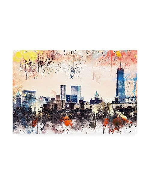 """Trademark Global Philippe Hugonnard NYC Watercolor Collection - the View Canvas Art - 19.5"""" x 26"""""""