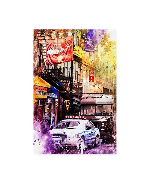 """Trademark Global Philippe Hugonnard NYC Watercolor Collection - Sheriff Canvas Art - 19.5"""" x 26"""""""