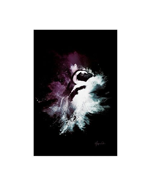 """Trademark Global Philippe Hugonnard Wild Explosion Collection - the Penguin Canvas Art - 27"""" x 33.5"""""""