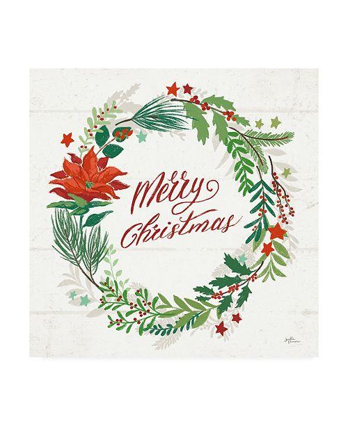 "Trademark Global Janelle Penner Holiday Joy I Merry Christmas Canvas Art - 15.5"" x 21"""