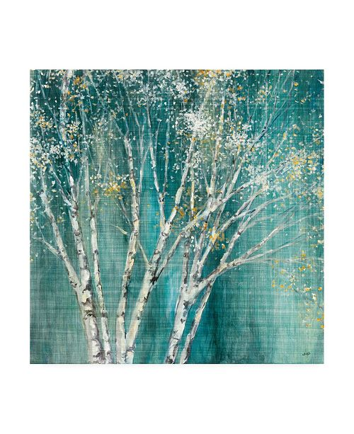 "Trademark Global Julia Purinton Blue Birch Flipped Canvas Art - 15.5"" x 21"""