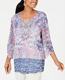 Embellished Angel-Sleeve Top, Created for Macy's