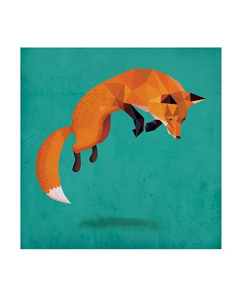 "Trademark Global Michael Buxto Transition Fox Canvas Art - 19.5"" x 26"""