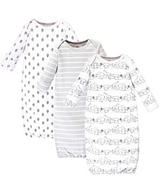 Organic Cotton Gown, 3 Pack, Safari