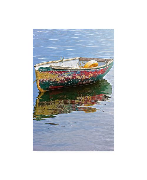 "Trademark Global Deborah Loeb Bohre Painted Boat Canvas Art - 27"" x 33.5"""