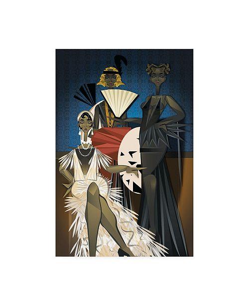 "Trademark Global Jaleel Campbel Harlem Nights Canvas Art - 19.5"" x 26"""