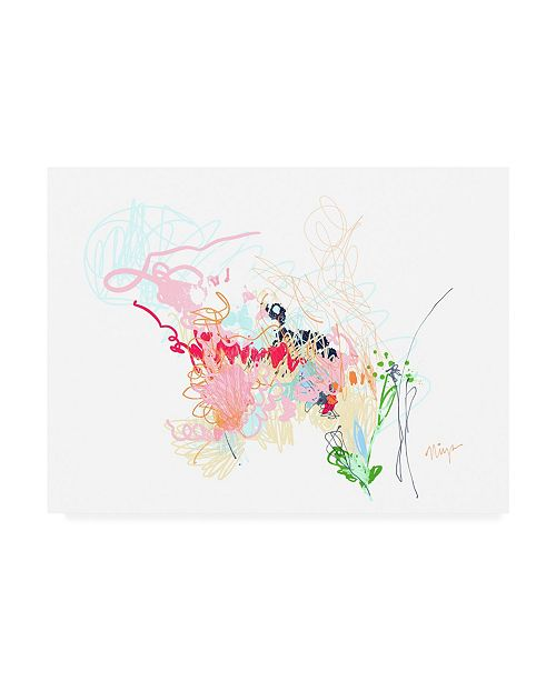 "Trademark Global Niya Christin Delicate Florals Canvas Art - 36.5"" x 48"""