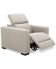 "Nevio 39"" Fabric Power Recliner with Rachet Headrest"