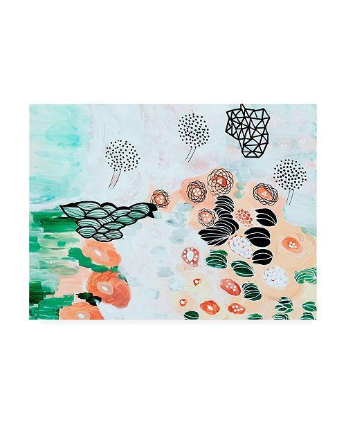 "Trademark Global Jaqui Falkenhei Flying Trees by the Pond Canvas Art - 36.5"" x 48"""