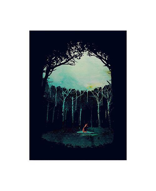 """Trademark Global Robert Farka Deep in the Forest Fox Canvas Art - 36.5"""" x 48"""""""