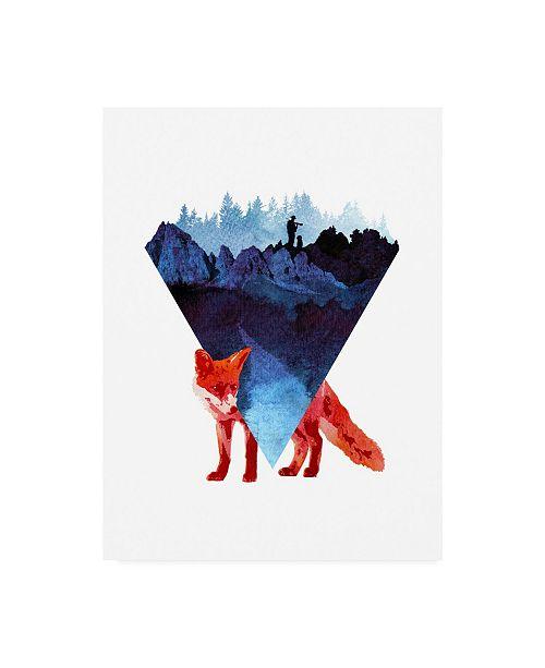 "Trademark Global Robert Farka Risky Road Fox Canvas Art - 19.5"" x 26"""