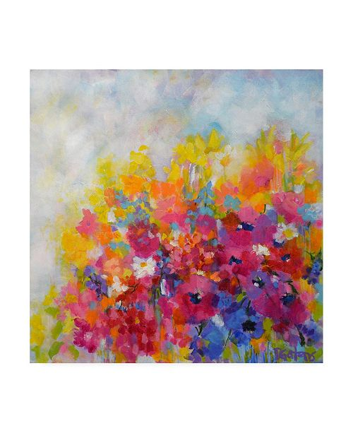 "Trademark Global Pamela Gaten Garden at Millefiori Canvas Art - 15.5"" x 21"""