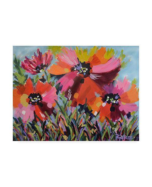 "Trademark Global Pamela Gaten Red Poppy Field Canvas Art - 36.5"" x 48"""