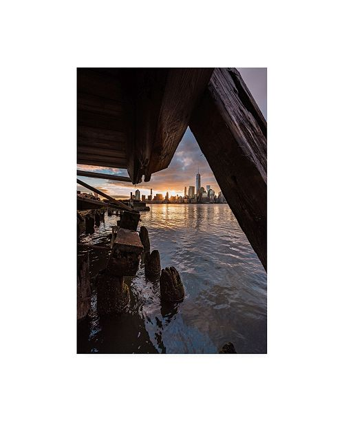 "Trademark Global Bruce Gett Under the Pier New York Canvas Art - 19.5"" x 26"""