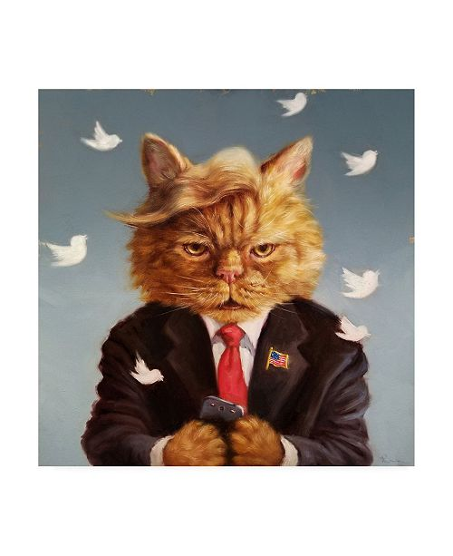 """Trademark Global Lucia Hefferna Catty Remarks Canvas Art - 19.5"""" x 26"""""""