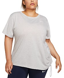 Nike Plus Size Miler Short-Sleeve Running Top