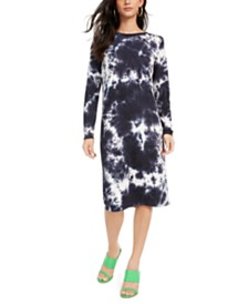 One Clothing Juniors' Tie-Dye Midi Dress