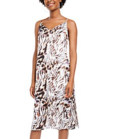 Juniors' Animal-Print Slip Dress