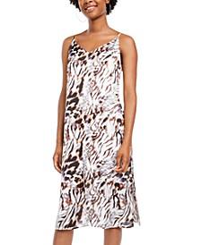 Juniors' Animal-Print Slip Dress