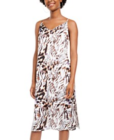 One Clothing Juniors' Animal-Print Slip Dress