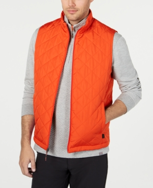 Hawke & Co. Outfitter Men's Quilted Vest In Orange