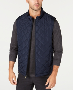Hawke & Co. Outfitter Men's Quilted Vest In Navy