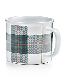 Martha Stewart Collection Plaid Mug, Created For Macy's
