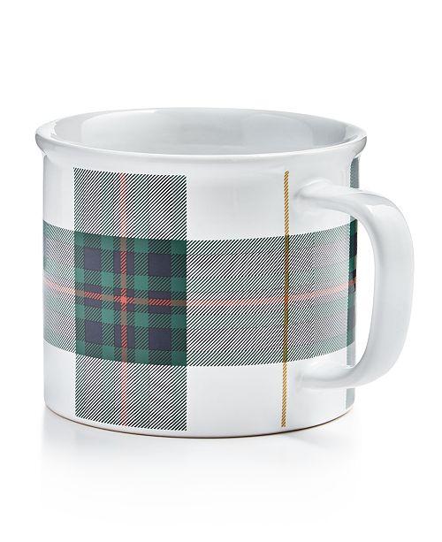 Martha Stewart Collection Plaid Mug, Created For Macy's