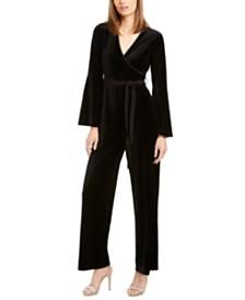 Calvin Klein Velvet Wrap Jumpsuit