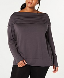 Plus Size Off-The-Shoulder Sweatshirt, Created for Macy's