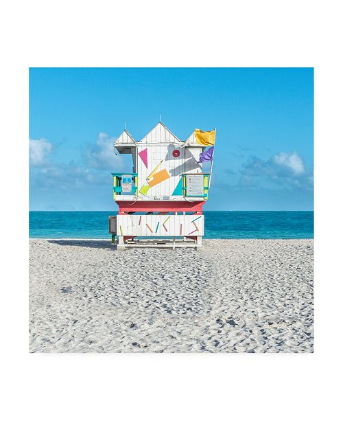 "Trademark Global Richard Silver Miami Beach V Lifeguard Canvas Art - 15"" x 20"""