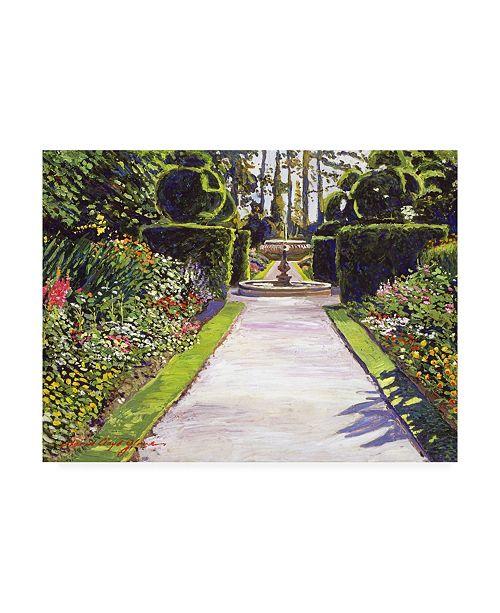 "Trademark Global David Lloyd Glover Fountain Green Canvas Art - 37"" x 49"""